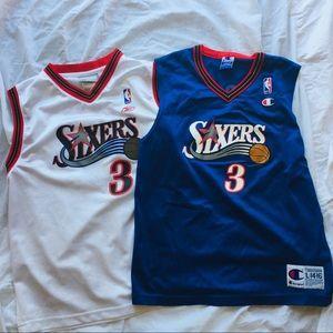 2 Youth Allen Iverson jerseys